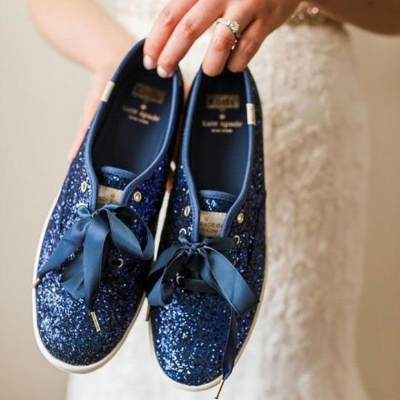 e5fc07e47e38 kate spade Shoes | Navy Blue Sparkle Keds Size 7 | Poshmark